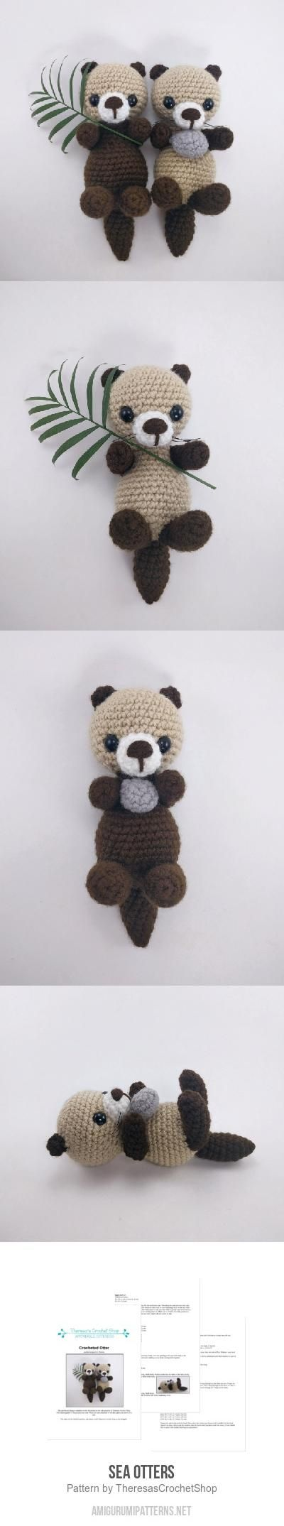 Sea Otters Amigurumi Pattern