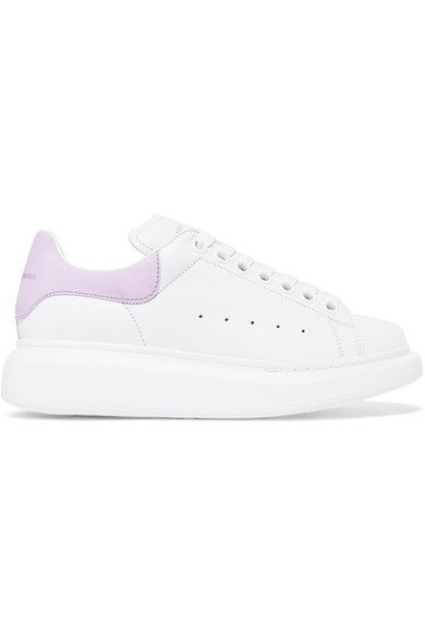 Alexander McQueen - Suede-trimmed Leather Exaggerated-sole Sneakers - White - IT