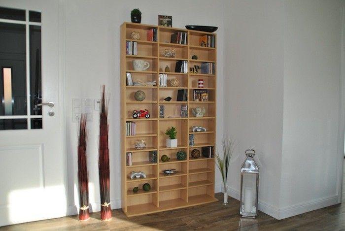 CD DVD Blu-ray Regal Medienregal Raumteiler 1080 CDs oder 504 DVDs in Holznachbildung – Bild 1