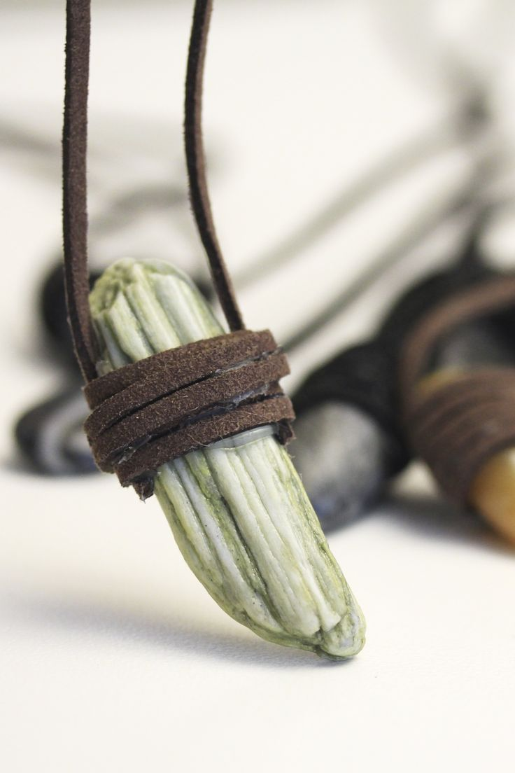 Wrap stone leather necklace for men