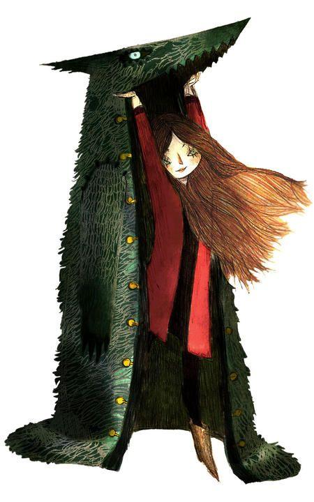Même pas peur, des loups comme toi, je m'en fais des manteaux ! / Little Red Riding Hood. / Le Petit Chaperon Rouge. / By Amélie Fléchais.