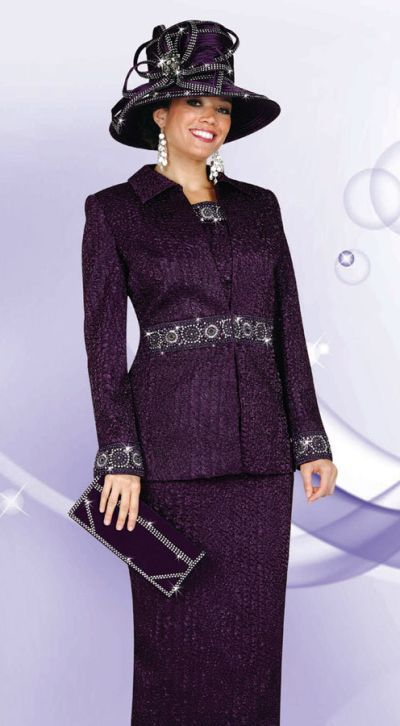 women's church suits and hats | BenMarc International 3pc ...