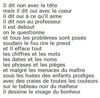 Le cancre. Jacques Prévert