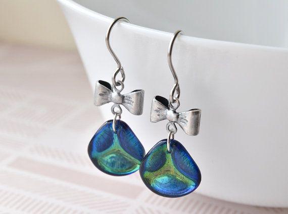Drop Earrings   Gift for Her  Glass Earrings   Czech Glass