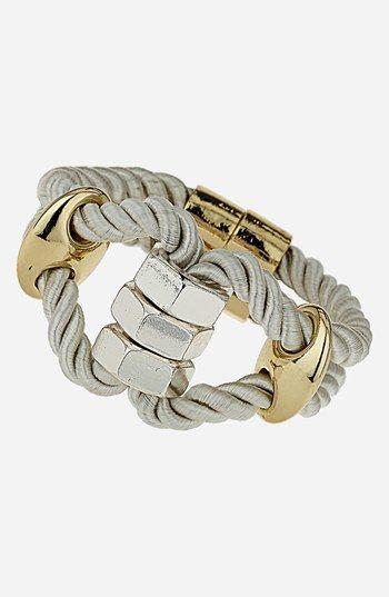 metal and rope bracelet