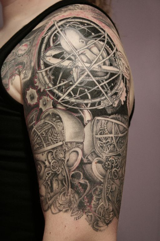 Steampunk half sleeve tattoo | SteamPunk Tattoo ...