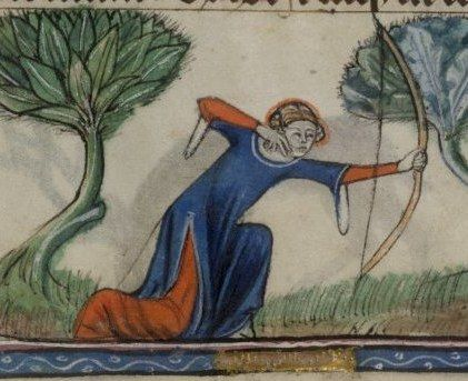 Taymouth Hours, 1325-40 English. Edges look to be trimmed (so this is where Norris find the pelice!)