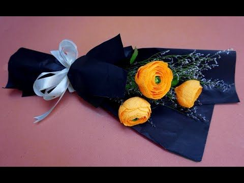 ABC TV | How To Make Flower Bouquet With Three Rose - Craft Tutorial - YouTube