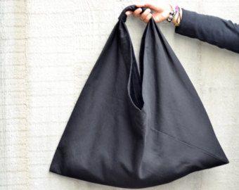 Borsa nera, borse e borsette, borse, borse da spalla, borsone nero, borsa spiaggia, shopping bag, borsa a mano, borsa triangolo, sacca tela