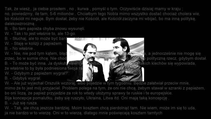 Lech Wałęsa kombinuje z milionem USD - rozmowa z bratem(stenopis)