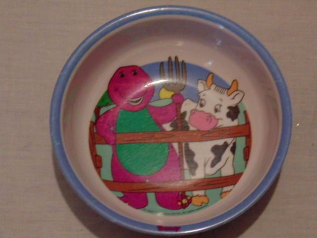Barney & Friends Farm Themed Cereal Bowl 1997 The Lyons Group #TheLyonsGroup