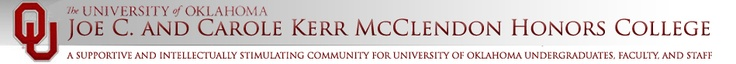 The University of Oklahoma Joe C. and Carole Kerr McClendon Honors College