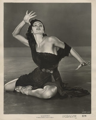 """Cyd Charisse in MGM's 1953 movie """"Sombrero""""."""