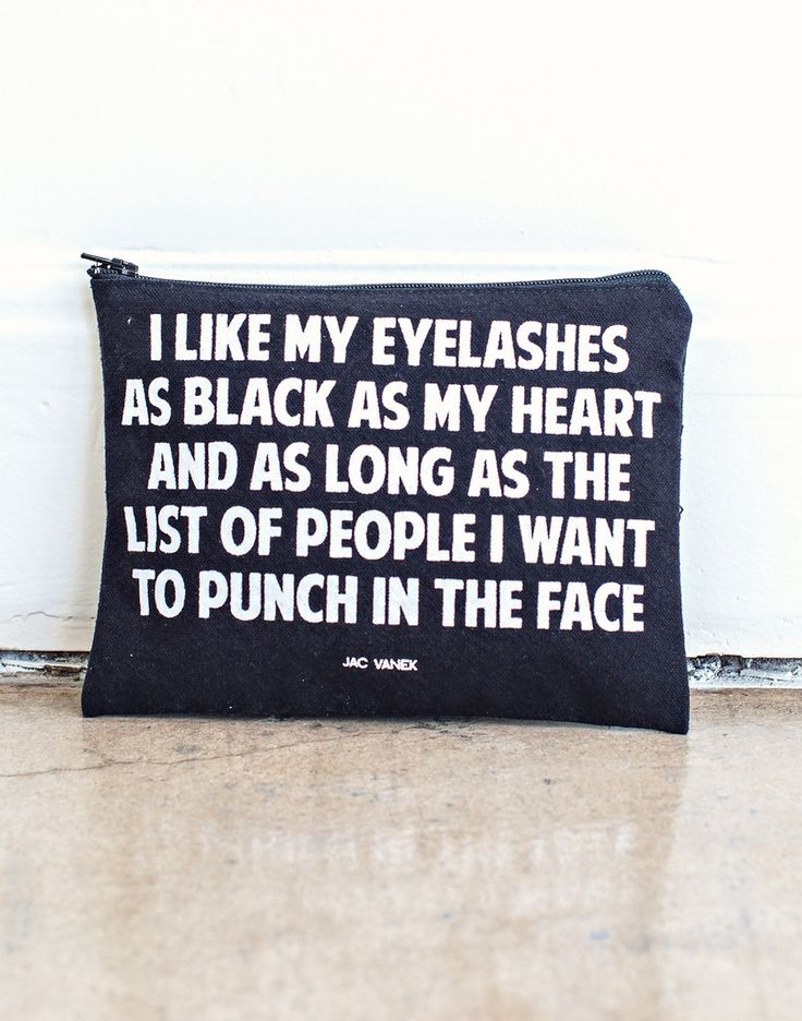 Black Eyelashes, Black Heart Pouch – NYLON SHOP