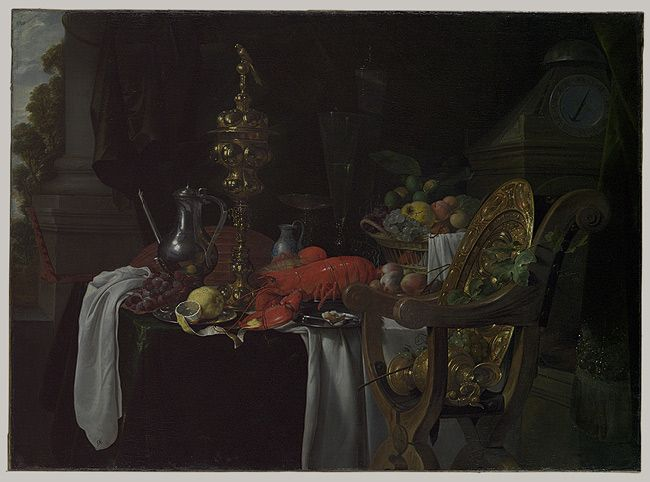 Still Life: A Banqueting Scene, 1670s, Jan Davidsz de Heem (Dutch), Oil on canvas (12.195)