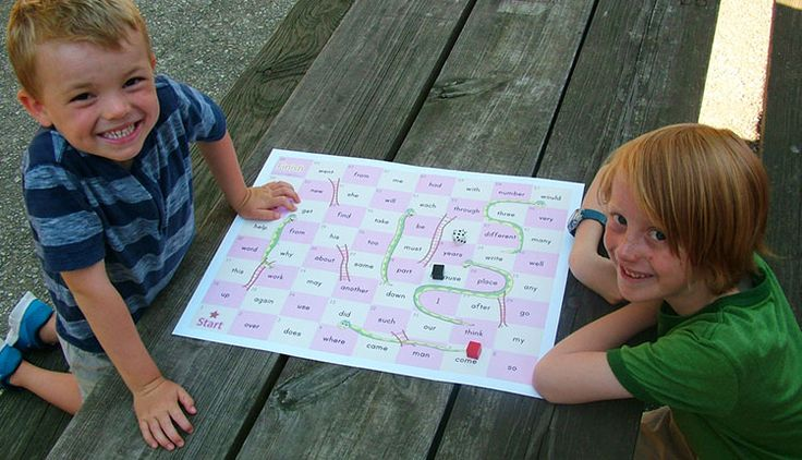 Description sight words snakes and ladders Forklaring på hvordan man kan spille stigespill med høyfrekvente ord