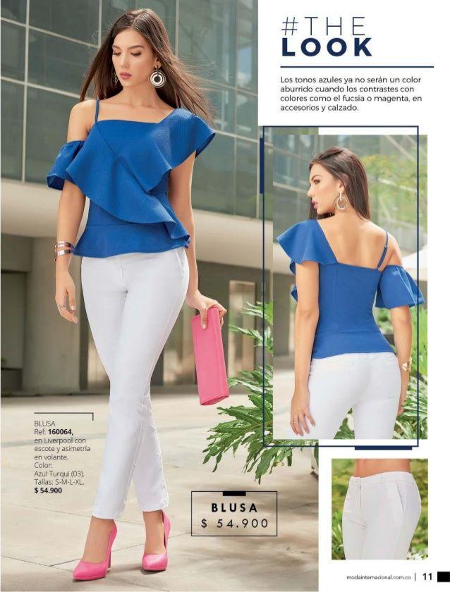 Dominio Y Wom Campanas 08 09 2018 Blusas Blancas De Vestir Ropa De Moda Ropa De Vestir Mujer