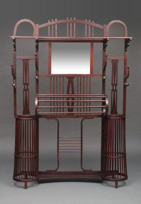 Thonet, große Garderobe, Klassiker um 1900/1920