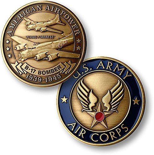 B-17 Army Air Corps Bronze Antique Coin