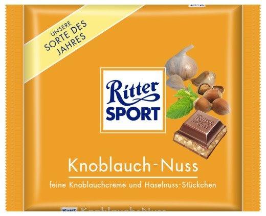 RITTER SPORT Fake Schokolade Knoblauch-Nuss