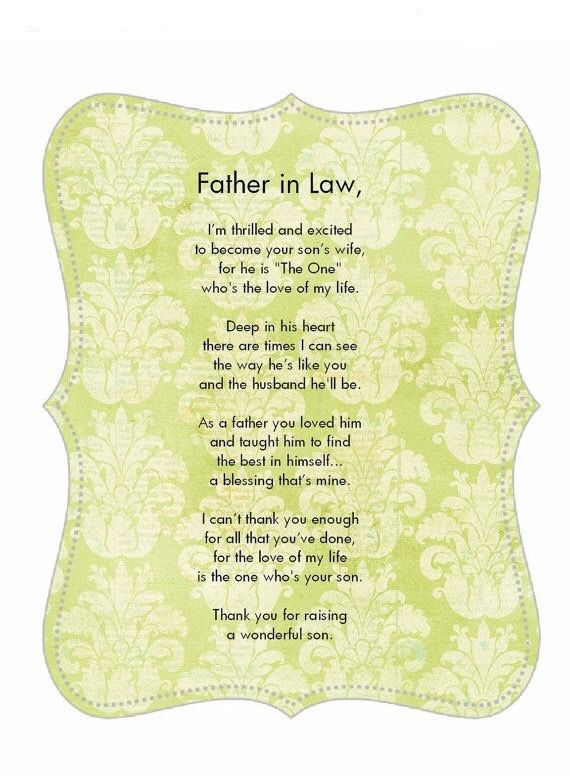 To an amazing father-in-law, and for raising a wonderful man who I now call husband!
