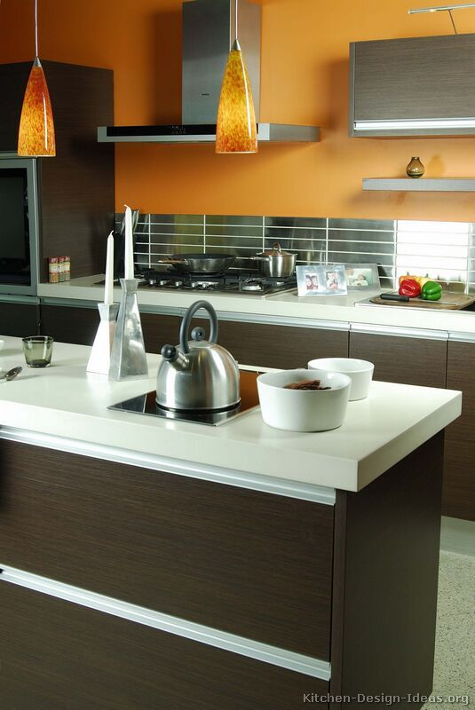 17 best ideas about dark wood kitchens on pinterest for Dark orange kitchen