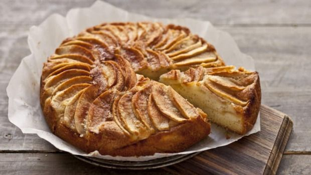 You can replace the apple in this cake with rhubarb, pear or firm peaches. Or leave the fruit out altogether and just sprinkle the cinnamon sugar mix onto the cake before baking, then you will have a very moist tea cake.
