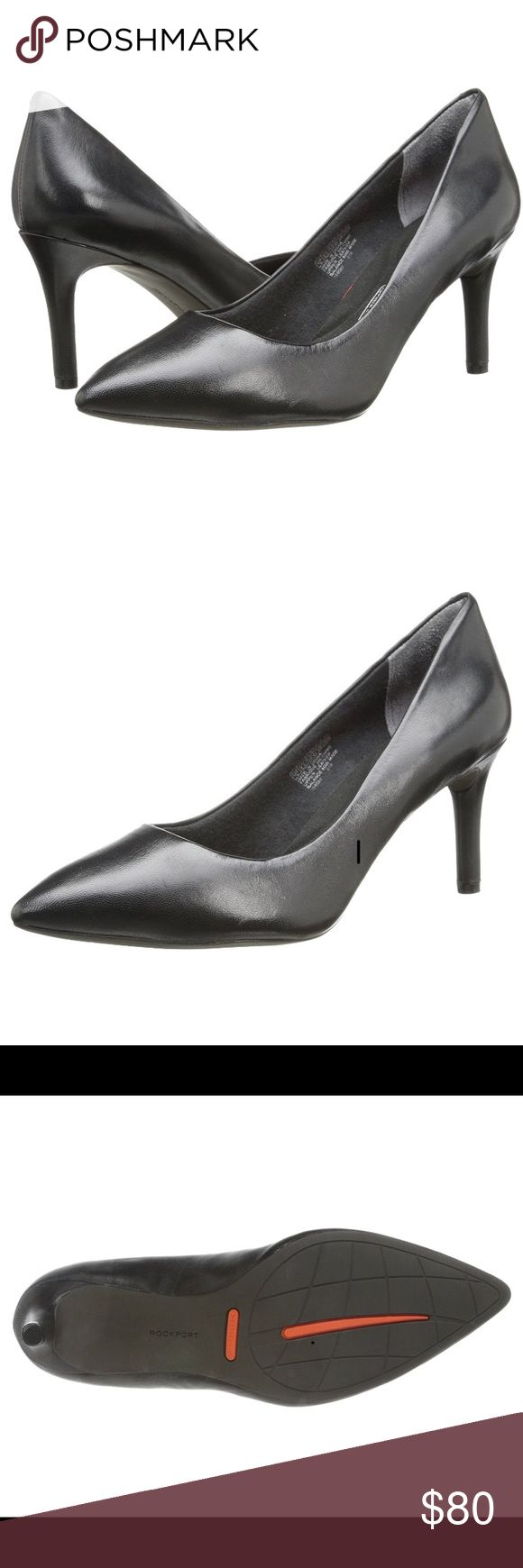Rockport Total Motion WIDE Black leather Rockport Total Motion pumps! BRAND NEW never worn! These are a 8.5W. Excellent comfort and fit, i just need .5 size up, so I'm trying to sell. Rockport Shoes Heels