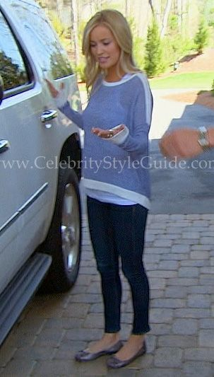 Who designed Emily Maynard's blue and white sweatshirt from the latest episode of the Bachelorette? It is the Generation Love Cropped Bobo Sweater and it is under $150! This great little sweater is full of fun with its white trim and bandCasual Outfit, Style Guide