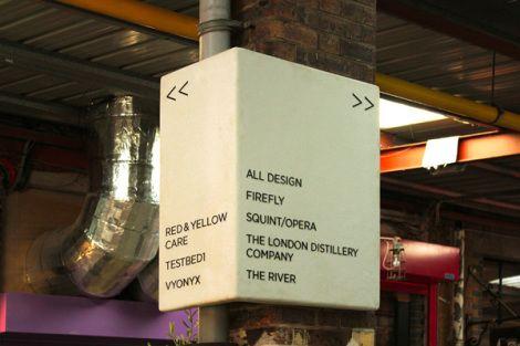 O All Design studio fez o sistema de sinalização para o Battersea no 33 Parkgate Road, onde está localizado um bar, uma galeria de arte árabe, uma academia de boxe, uma cozinha slow food, uma destilaria de uísque e o próprio escritório do All Design.