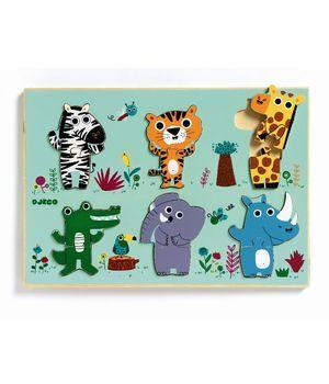 Djeco - Træpuslespil jungledyr