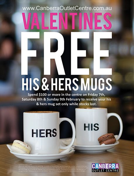 Canberra Outlet Centre's Valentines Day promo on Behance