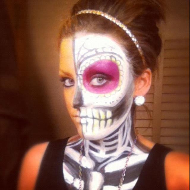 halloween facepaint sugarskull skull skeleton find face paints for halloween - Skull Face Painting Ideas For Halloween