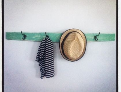 $65 Coat Rack - Upcycled from a red wine barrel - Shabby Chic