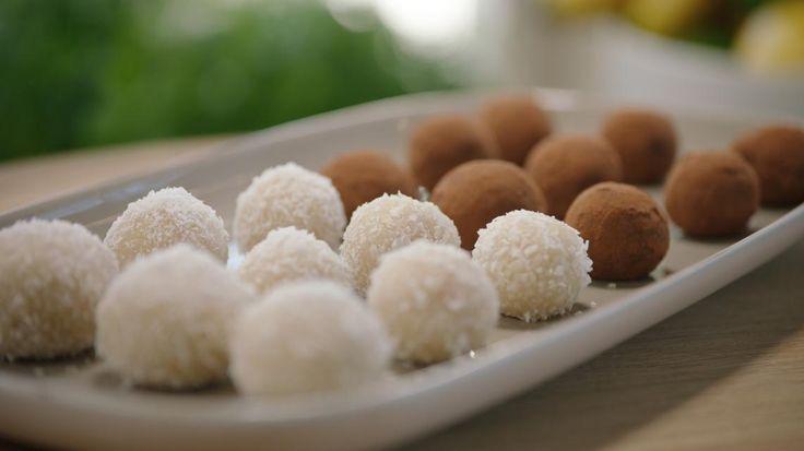 Marsepeinbolletjes met kokos of cacao   VTM Koken