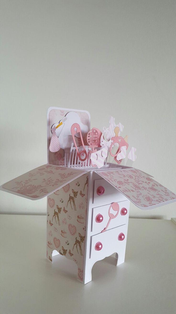 Baby girl pop up box