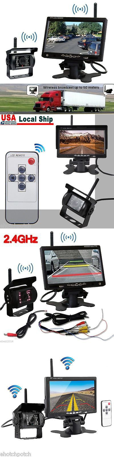 Rear View Monitors Cams and Kits: Digital Wireless Rear View Backup Camera System 7 Lcd For Rv Camper Trailer BUY IT NOW ONLY: $58.99