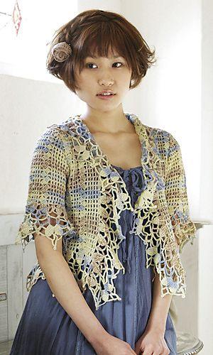 Ravelry: Celeste Bolero free pattern by Pierrot (Gosyo Co., Ltd)