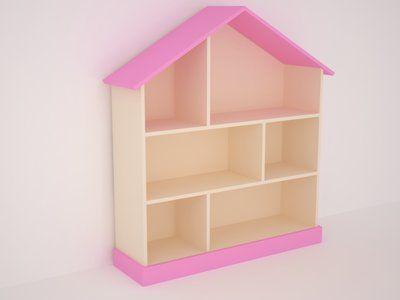 Домик - комод / стеллаж для игрушек / полки в детскую комнату / детская меб