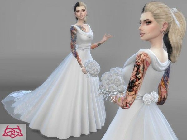 Белое платье для симс 4