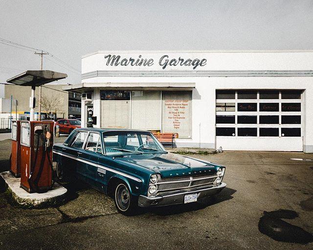 Marine Garage in Steveston village defy Time.  #shotoniphonex #richmondBC