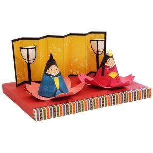 Mini-Hinakazari (Puppe Dekoration) Set,Spielzeuge,Papiermodelle,Asien / Ozeanien,Japan,Puppe,Puppenfest,Gluecksbringer,Maedchen,Jahresfest,Puppen für das Pfirsichblütenfest