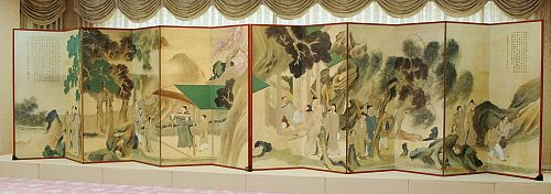 A large scale screen painting by the Japanese literati poet-painter Yosa Buson (1716-1783) was just rediscovered at the Mori Museum in Hiroshima.
