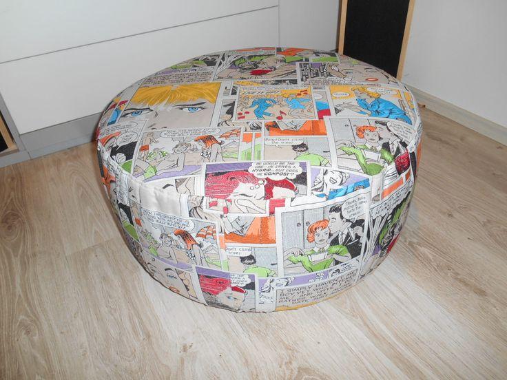 Komiksový taburet od paní Evy Kryštofové