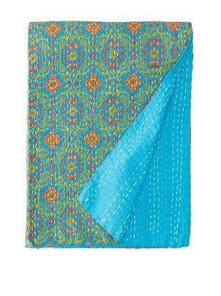 Printed Kantha, Blue, 60