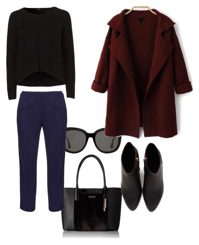 """""""To Work❤️😎"""" by firefashionga on Polyvore featuring moda, Gentle Monster, Calvin Klein, navabi e Alexander Wang"""