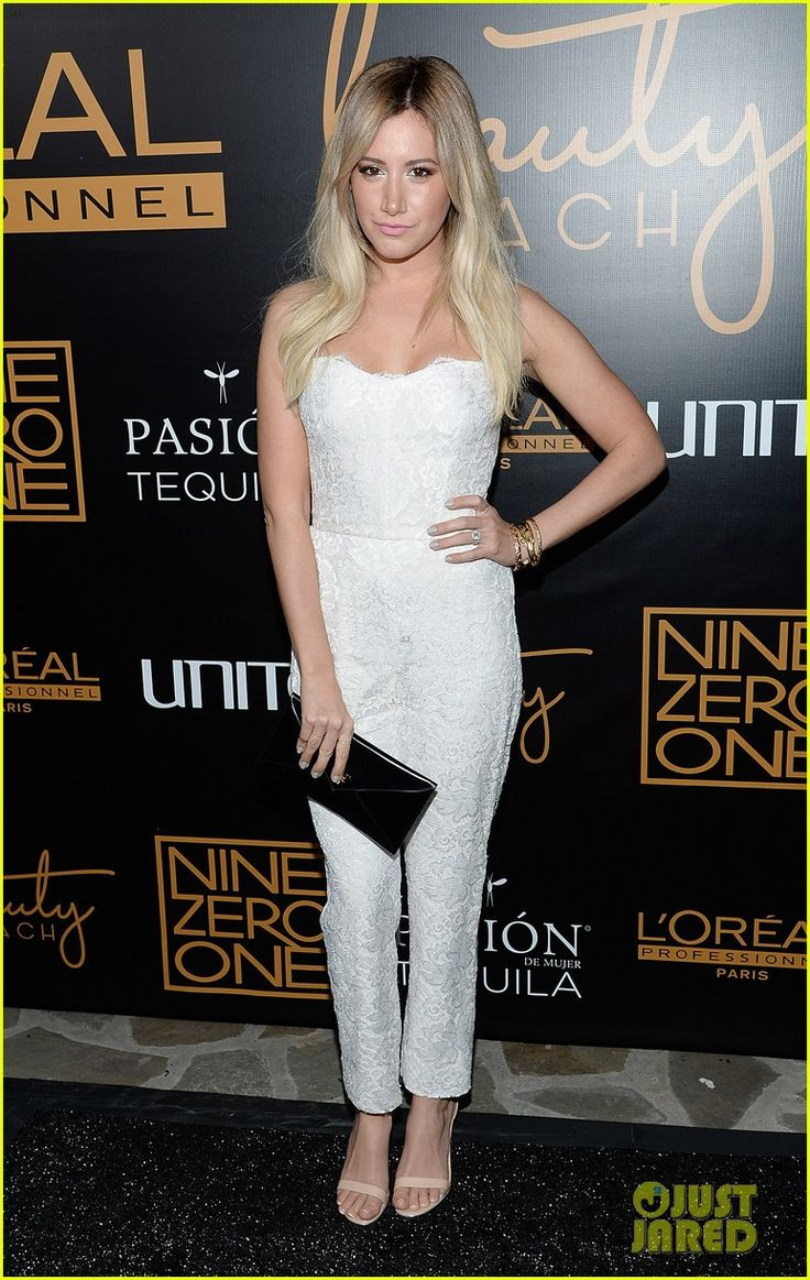Ashley Tisdale Hit Up the Nine Zero One Salon Melrose Place Launch