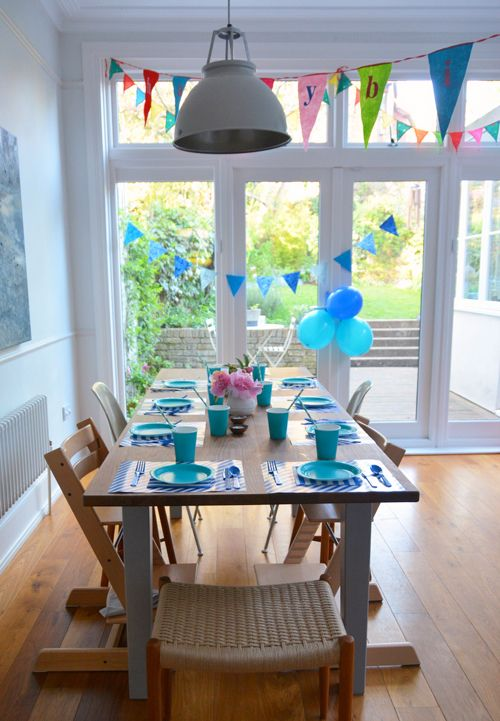 blue party decorations from Little Lulubel