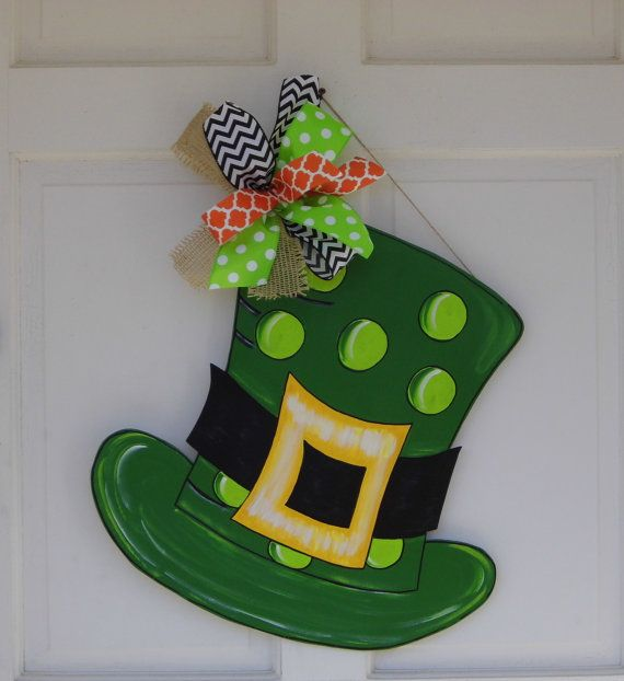 St. Patrick's Hat Door Hanger St. Patrick's by HolidaysAreSpecial