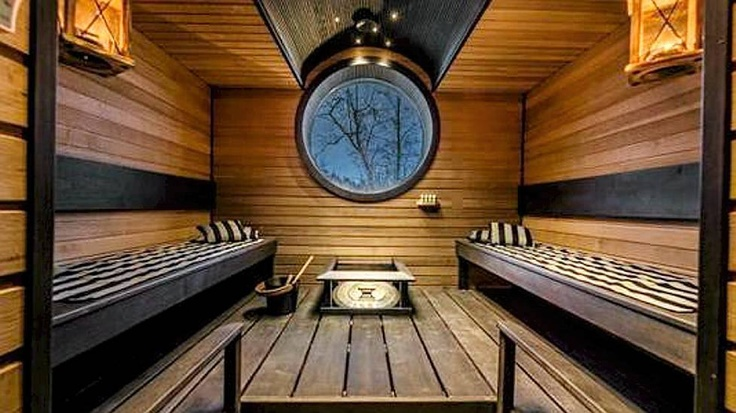 Sweet looking sauna in Finland. Authors unknown.